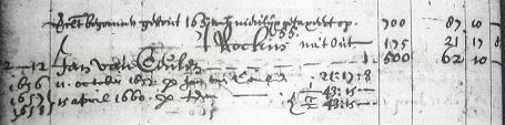 Jan van Ceulen 'begonnen gebout 1651'