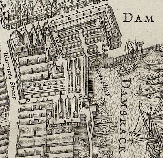 De vismarkt rond 1650.