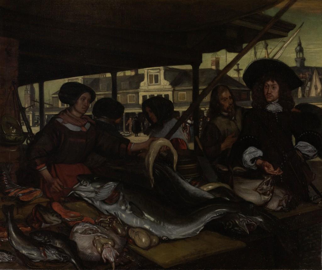 De Nieuwe Vismarkt te Amsterdam, Emanuel de Witte, 1655 - 1692