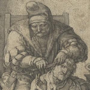 De chirurgijn, Lucas van Leyden, 1524 - kopie
