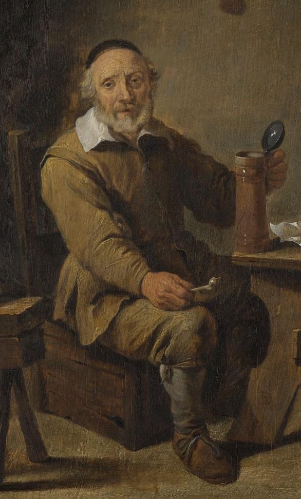 Een bierdrinker in goede gezondheid, David Teniers (II), 1640 - 1660