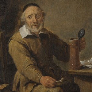 De oude bierdrinker, copy after David Teniers (II), 1640 - 1660 - kopie