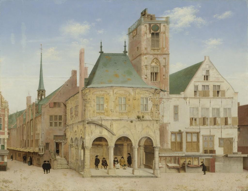 Het oude stadhuis van Amsterdam, geschilderd door Pieter Saenredam in 1657.Vanuit de toren lieten de stadsmuzikanten hun klanken horen.