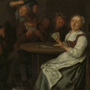 Het valse kaartspelen, Jan Miense Molenaer, 1640 - 1668 - kopie
