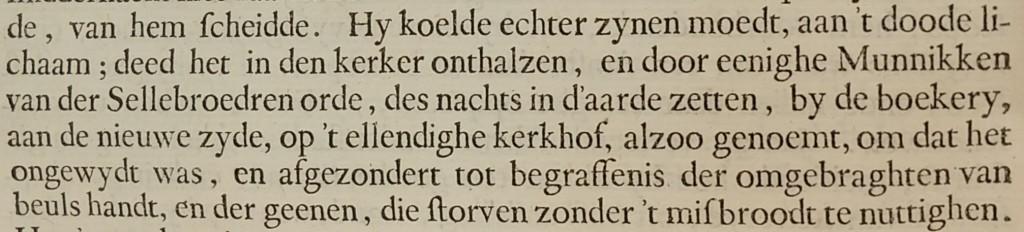 """Een uitsnede van het boek 'De Neederlandsche Historieen"""" uit 1642."""