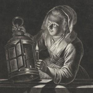 Meisje met lantaarn, Jan Thomas, Gerard Dou, 1661 - kopie