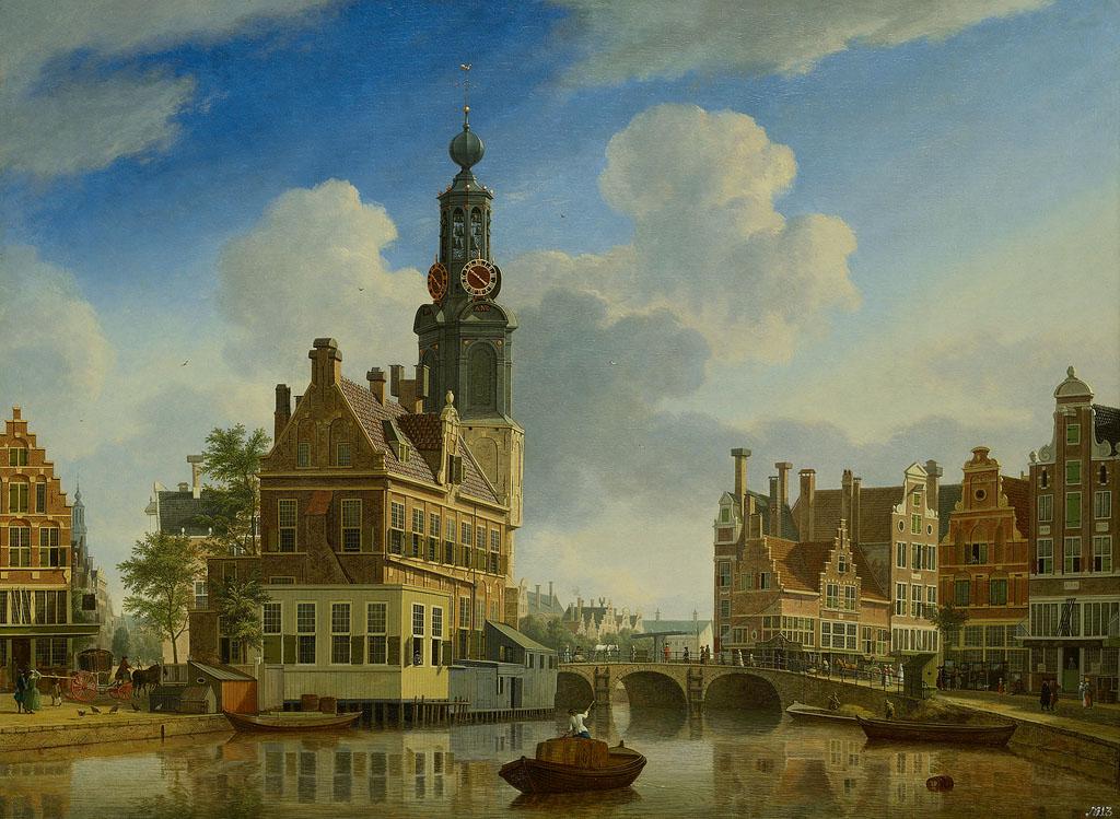 De Munttoren gezien vanaf het Singel, Jan ten Compe. 1751