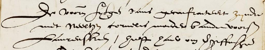 De voornoemde Fytgen Jans geconfronteert zynde met Neeltgen Cornelis moeder vande voorseide Laurensken.