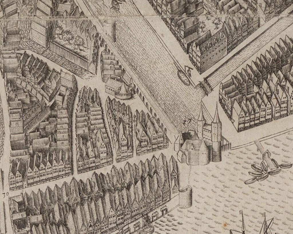 Op de kaart van Pieter Bast (1597) is de muur nog aanwezig, ondanks de uitbreiding van de stad in 1586 (eerste uitleg). Omstreeks 1603 was de muur overal geslecht.