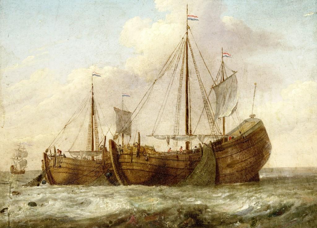 Een soortgelijk schip (een haringbuis)  werd door Simon Jansz. in 1579 gekocht van de stad Amsterdam.
