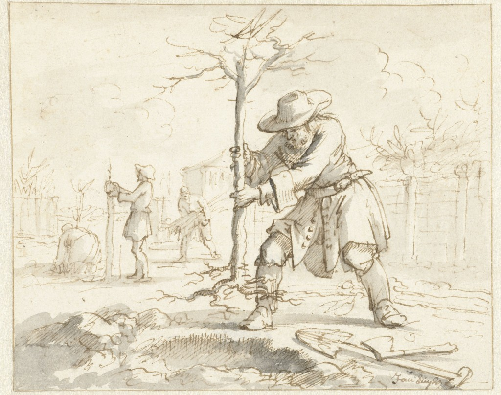 Het planten van bomen, Jan Luyken, 1660 - 1712